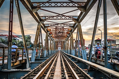 The track (Asian Hideaways Photography) Tags: asia asian architecture exterior travel travelphotography sky sunset urban vietnam people southeastasia streetphotography street moto clouds vietnamese bridge rail railway track