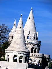 392 (Konzii) Tags: blue sky tower hungary budapest towers fishermans bastion