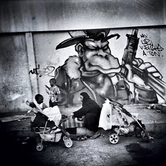 My Uzi Weighs A Ton. (Ft. Mode2) (Laithmatic) Tags: blackandwhite streetphotography bandw bwbeauty ampt streetphotobw bwlover wearejuxt shootermag bwsworldwide