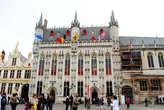 square (ekelly80) Tags: building square belgium market brugge flags bruges grotemarkt marketsquare may2013