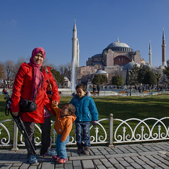 Istanbul | Aya Sofya | Hagia Sophia (wazari) Tags: city travel art history classic architecture photoshop vintage turkey photography ancient asia europe european place artistic ataturk minaret islam faith religion culture istanbul mosque retro photograph adobe journey dome destination historical ottoman taksim middleages secular turkish byzantine bosphorus masjid asean cultural turk sultanahmet traveler galata constantinople islamicart travelphotography galatatower stamboul travelphotographer wazari senibina wazariwazir