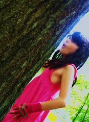 Gazala (JonathanBohemian23) Tags: pink tree cute girl looking dress little expression young expressive surprised emotive shocked