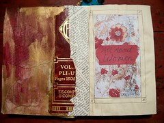 Title Page, All About Women (artsychicksw) Tags: woman art altered book mixed women media paint acrylic journal ephemera journaling