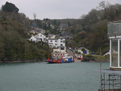 Boddinick Ferry (Worthing Wanderer) Tags: grey coast spring cornwall cloudy harbour path windy estuary april fowey dull southwestcoastpath