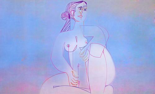 "Mujer Sentada, geometrización de Pablo Picasso (1953), abstracción de Roberto Real de León (2013). • <a style=""font-size:0.8em;"" href=""http://www.flickr.com/photos/30735181@N00/8815902778/"" target=""_blank"">View on Flickr</a>"