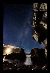 LOBADIZ-WEB (alabaixo) Tags: espaa mar spain agua corua playa galicia estrellas nocturna oceano ferrol donios vialactea lobadiz