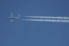 OY-NCU (Rob390029) Tags: travel blue sky sun train plane flying high contrail top aircraft aviation air transport flight over jet trails 328 civil transportation scandinavia airborne contrails sus civilian dornier trailing 328jet j328 oyncu