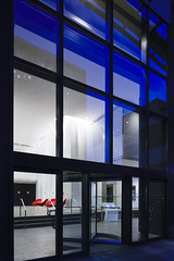 2 Saint Clair West Lobby (GKD Metal Fabrics) Tags: building metal design office interiors purple mesh steel interior stainless fabrics gkd
