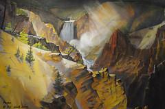Grand Canyon of the Yellowstone (detail), Carl Tolpo (V. C. Wald) Tags: yellowstonenationalpark jacksonhole grandcanyonoftheyellowstone grandtetonnationalpark jacksonwyoming nationalmuseumofwildlifeart carltolpo