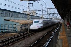 N700 set X42 passing Mishima (cosmostrainadventures) Tags: n700seriesshinkansen tkaidshinkansen mishima n7002000 n7002000series n700a setx42 x42 jr jrcentral jrn700 n700series shinkansen