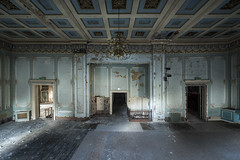 Dancehall days are over (Kriegaffe 9) Tags: balroom grande decay ceiling ruin crumbling
