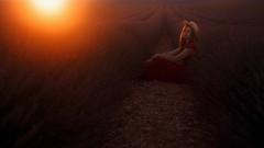 35 - Lavender fever (escape.myself) Tags: lavender lavanda valensole lavenderfields oysho girl sunset sun silence nature fabtastic splendid boaterhat perfectevening eveningsun annashen provence france romantic flowers solitude alone freedom