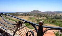 l' Antico Terrazzo (babs van beieren) Tags: fencedfriday fence roof terrace italy sardegna posada landscape view mointain sea