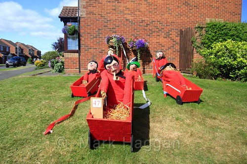 The Red Barrows at the Heather Scarecrow Festival 2016