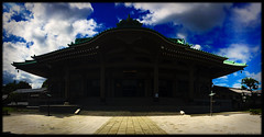 Soji-ji Temple (lesliegill) Tags: 2016 august blue clouds colour hot iphone iphoneography japan outdoors panorama sky summer sunny temple yokohama