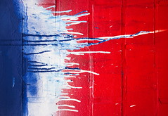 Blue White Red Flag (Ren-s) Tags: paint peinture spraypaint aerosol graff graffiti tag blue white red bleu blanc rouge drapeau flag france