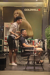 Who's having more fun here 1/3? (johey24) Tags: shanghai shanghaistreets shanghaicandid shanghaiist china chinatoday hairdressers pampered candid raw street realpeople peopplewatching fun lifeisbeautiful songjiang throughawindow outsidelookingin men mentouching chinesemen