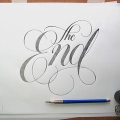 The End | Jason Vandenberg (inspiration_de) Tags: handlettering lettering script typography