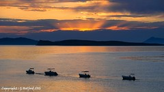 Home Time.... (Holfo) Tags: boats unset nikon d5300 greece corfu islands clouds orange glow rays sunlight dusk outdoor seaside sea sunset sky water ocean bay serene coast
