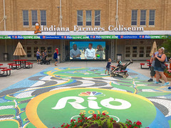Rio Olympics area (mrgraphic2) Tags: indianapolis indiana 2016 rio olympics sign statefair garfield cat
