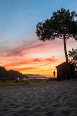Sky is on fire (Romain Archimbaud) Tags: france paysage bateaux beach boat contis coucherdesoleil landes landscape nature plage summer sunset t atlanticocean ocan atlantique
