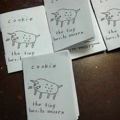 Cookie, the tiny burrito unicorn. A 2 inch by 3 inch, 12 page comic book. (starheadboy) Tags: burritounicorn cookie