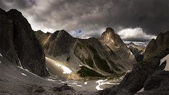 When the cloud break (andrewpmorse) Tags: banffnationalpark banff canada alberta mountains corypass clouds dramatic panorama hiking canon 6d 1635f4l mountainpass valley