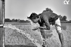 Beat the Heat (AR's Photography) Tags: blackandwhite portrait water heat field countryside weather summer village nikond5200