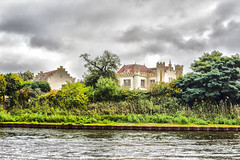 Castle style house (Wookiee!) Tags: house castle style cloudy huis kasteelachtig bewolkt water canal kanaal green groen color kleur noordbrabant nl the netherlands holland nederland dutch nederlands 073 canon d550 35mm lens outdoor buiten natuur nature boat boot hdr photoshop cc2015 wwwgevoeligeplatennl zoete lieve gerrit