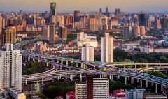 model city (Rob-Shanghai) Tags: china shanghai cityscape tiltshift miniature model leica m240 puxi highway traffic jw