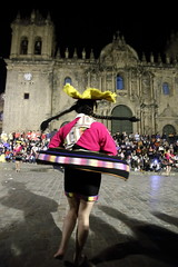 Cuzco in motion (Nanak26) Tags: cusco gente qosqo perú cusquenian sudamérica inca andes incas plazadearmas parade carnaval dancerofperu danzasdelperu woman mujer traditionaldances traditionalcostume dancingincarnival party festival colors costumes costume night women dresses braids heritage history life peruvian people danzas dance motion danse dress jupon slip tradition move moving dancing animation mouvement film carnival quachua colourful joyful moves colorful hat courtship ritual whirl swirl round cathedral cathedralbasilicaoftheassumptionofthevirgin roman christian church unesco worldheritagesite