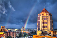 Autumn Rainbow Roanoke (Terry Aldhizer) Tags: terry aldhizer rainbow weather autumn roanoke city hotel sky clouds rain storm reflection optic virginia wwwterryaldhizercom