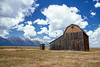 the last barn (almostsummersky) Tags: wood log reedmoultonbarn barn settlement valley grovont afternoon nationalpark mountains grandtetonnationalpark wooden building mormon clouds homestead outhouse grosventre summer abandoned antelopeflats sky grandtetons mountainrange mormonrow weathered jacksonhole farm plain tetonrange mormonrowhistoricdistrict wyoming moose unitedstates us