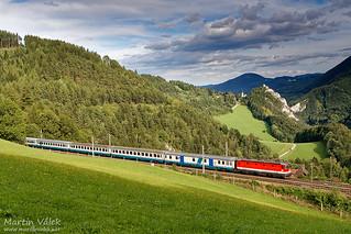 1044.021 ÖBB, EC 33 Allegro Stradivari, Klamm-Schottwien - Breitenstein (Austria)