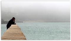 Sea mist on the quay (patrick_milan) Tags: colors landscape sea mer iroise water harbour port plouguin ploudalmezeau portsall brittany