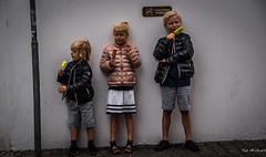 2016 - Baltic Cruise - Copenhagen - Yummy (Ted's photos - For Me & You) Tags: 2016 balticcruise tedmcgrath tedsphotos copenhagen denmark trio people streetscene street youth kids icecream