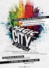 Magic City - Poster (Ben Heine) Tags: magiccity streetart benheineart collectiveshow magic colors colorful creative sculpture installations abstractart dresden germany benheine fashion mannequin abstract installation concept conceptual modernart semmelconcerts modern acrylic paint peinture artists performance fleshandacrylic drip dripping drop coule chair chaise urbanexploration objects city ville kulturquartier zeitenstrmung international show opening