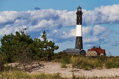 Fire Island Lighthouse (Bob90901) Tags: fireislandlighthouse fireislandnationalseashore longisland newyork rpg90901 summer 2016 september 1714 afternoon architecture clouds dunes canon 6d canonef70200mmf28lisiiusm canon70200f28lll