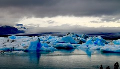 Ice & Fire (again) (Sanda_I) Tags: cold ice glacier iceland islande europe 66north north blue water weather discover landscape winter fall wild lake jokusarlon