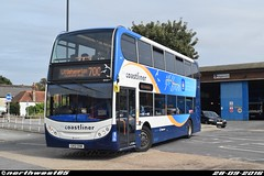 10001 (northwest85) Tags: stagecoach chichester coastliner 700 gx12 dxm 10001 alexander dennis adl enviro 400 littlehampton bus station gx12dxm