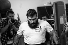 Powerlifter (Allan Jones Photographer) Tags: stephanjones powerlifter powerlifting ppg plymouthppg plymouthperformancegym ppginvitational powerliftingcompetition strong strongman strength muscle serious psyched concentration inthezone weights ink tattoos beard allanjonesphotographer allanjones canon5d3 canonef24105mmf4lisusm sport bw mono blackandwhite portrait blackwhite goodphoto