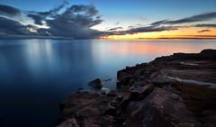 Hidden From The City Lights (tinamar789) Tags: seascape sea seashore sunset rocks reflection clouds suomenlinna horizon helsinki