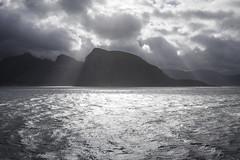 light & water (crazyhorse_mk) Tags: rnes norway storvik landscape nature coast water sea mountain sky clouds sun light hurtigruten