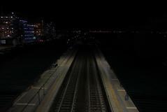 station (Osservazioni al Mercato) Tags: night trainstation urban panasonic lumix lx100 black dark roma stazione treni binari binario fiumicino nero luci notturna