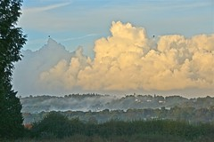 Morning Vapours (Deepgreen2009) Tags: vapour clouds mist weather damp sky early morning landscape surrey cumulus showers