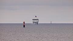 Viking Cinderella at Lerskrsgrund (Franz Airiman) Tags: ferry finlandsfrja vikingline vikingcinderella frja frjan lerskrsgrund remmargrund sweden scandinavia baltic balticsea stersjn fyr lighthouse