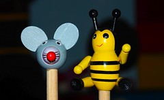 Mouse & Maja Pencils (G_E_R_D) Tags: pencilspenserasersandorpaperclips bleistift pencil maus mouse maja crayonpapier ellpiz hmm macromondays