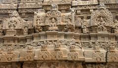 Detail of carvings on the temple with Narsimha on the left panel (VinayakH) Tags: bhoganandeeshwaratemple karnataka india temple nandihills chikkaballapura chola ganga hoysala tipusultan religious historic