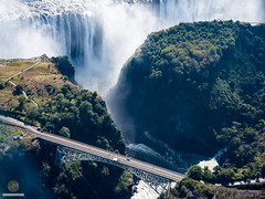 Bridge (w.mekwi photography [here & there]) Tags: africa zimbabwe road waterfall forest victoriafalls outdoors wondersoftheworld bridge aerialview wmekwiphotography nikond800