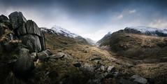 Pen-Y-Pass, Wales  08/01/2016 (Matthew Dartford) Tags: atmospheric bokeh cloud happisburgh landscape moody mountain penypass snow snowcap snowdonia valley wales